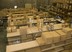 Image of boxes in a warehouse